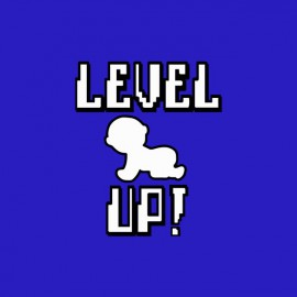 T-shirt Baby Level Up blue