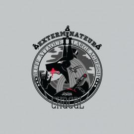 Tee shirt Poker Exterminateurs Anubis Bluff gris