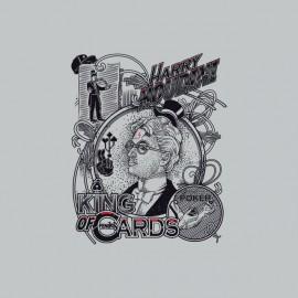 Poker T-shirt white Harry Houdini