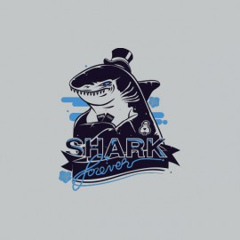 Tee shirt Poker Shark forever gris