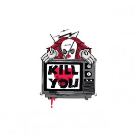 Tee shirt TV kill you blanc