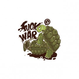 Tee shirt Fuck War Turtle blanc