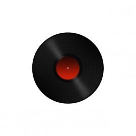Tee shirt DJ Vinyl Record blanc