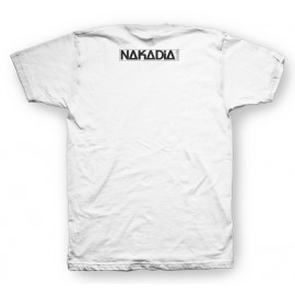 Tee shirt Nakadia DJ techshirt halftone blanc