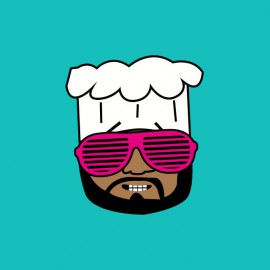 Tee shirt South Park parodie Chef cool lunettes geek rose lmfao turquoise