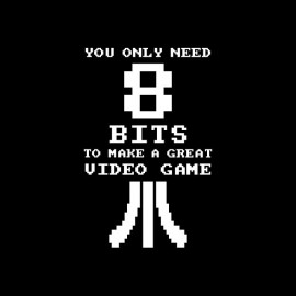 Tee shirt Great Video Game need 8 bits noir