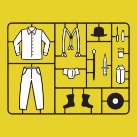 Tee shirt Clockwork Orange yellow kit stanley kubrick