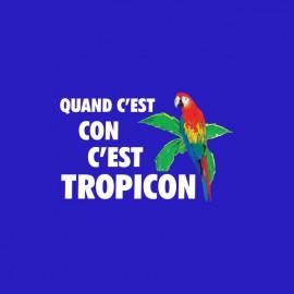 Tee shirt Les Nuls Tropico parodie Tropicon bleu
