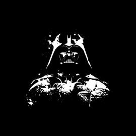 Tee Shirt Dark Vador Peinture Artistique Noir Tee Shirt Dark Vador Peinture Artistique Noir