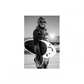 T-shirt Wookie on the beach white