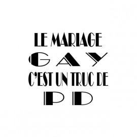 Tee shirt Mariage gay truc de PD blanc