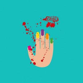T-shirt Dexter Laura Moser's hand turquoise