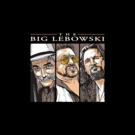 T-shirt The Big Lebowski triptych title black