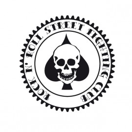 Rock N 'Roll Street Fighting Club - Tee Shirt Ace of spades skull poker / poker ace peaks crane White / White