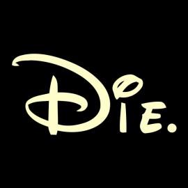 Tee shirt Die parodie walt Disney noir