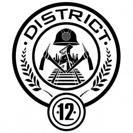 Tee shirt Hanger Games district 12 blason blanc