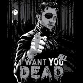 Camisa Walking Dead gobernador que desea que todos los muertos negro