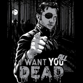 Shirt Walking Dead Governor I want you all dead black