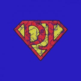 Súper DJ Camiseta azul real