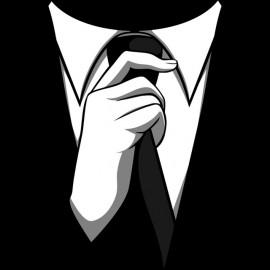 Tee Shirts traje traje de Barney Stinson hasta negro