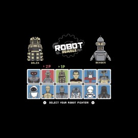Robot Rumble parodie Blender Street Fighter Star Wars
