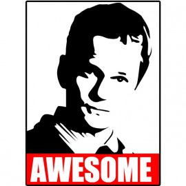 Tee Shirt Awesome Barney Stinson white