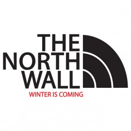 Camiseta parodia hierro trono blanco cara norte