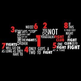 negro camiseta del club de siete pelea