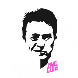 tee shirt fight club  Multiple Personality man blanc