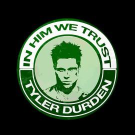 tee shirt fight club Tyler durden noir