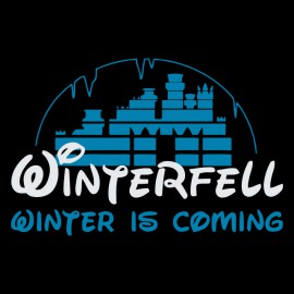Tee shirt Game of Thrones Winterfell parodie Disney noir