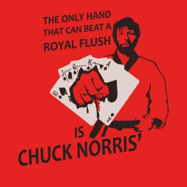 shirt chuck norris smashes all red