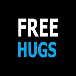 abrazo libre negro camiseta