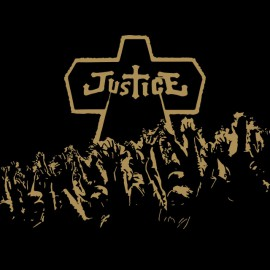 negro camiseta de la justicia