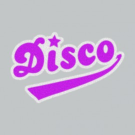 Tee Shirt Disco Purple on Grey