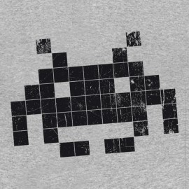 Tee shirt Space invaders gris
