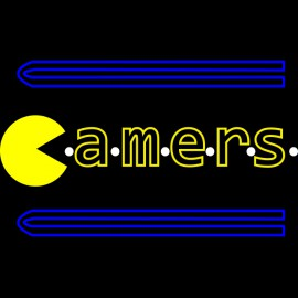 tee shirt pac man gamers noir