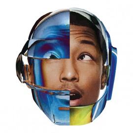 Pharrell Williams camiseta con el casco blanco daft punk
