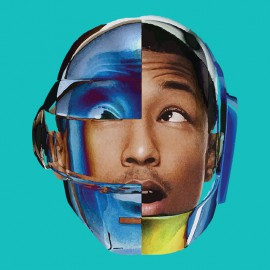 pharrell williams t-shirt with blue daft punk helmet sky