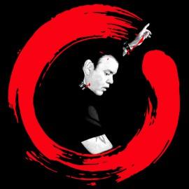 camiseta del negro de la camisa Paul Oakenfold