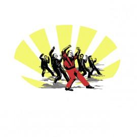 camisa de Michael Jackson divertido blanco de baile