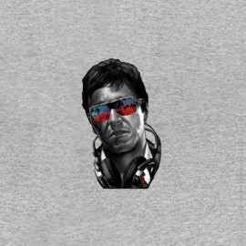 tony montana shirt fashion gray