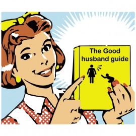 tee shirt blanc the good husband guide
