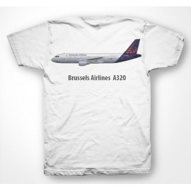 Tee shirt Brussels Airlines Airbus A320 blanc