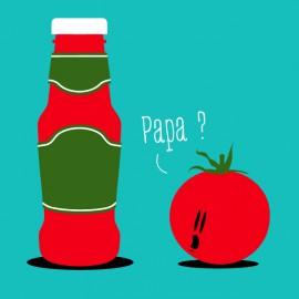 Papa Salsa de tomate