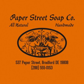 Tee shirt Paper Street Soap Co. orange