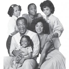 Camisa Cosby muestran la familia blanca