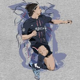 camisa gris Zlatan Ibrahimovic artística