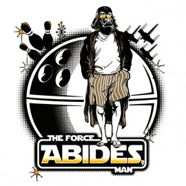 tee shirt star wars the force abides man blanc