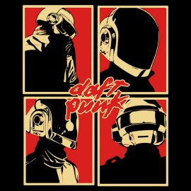 Daft Punk t-shirt black logo
